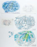 Animation Art:Production Drawing, Little Mermaid Consumer Products Concept Art Group of 3(Walt Disney, c. 1990s)....