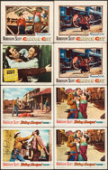 """Movie Posters:Western, Carson City & Others Lot (Warner Brothers, 1952). Lobby Cards (16) (11"""" X 14""""). Western.. ... (Total: 16 Items)"""