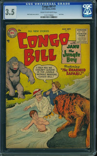 Congo Bill #7 (DC, 1955) CGC VG- 3.5 Cream to off-white pages