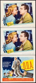 "Movie Posters:Film Noir, D.O.A. (United Artists, 1950). Title Lobby Card & Lobby Cards(2) (11"" X 14""). Film Noir.. ... (Total: 3 Items)"