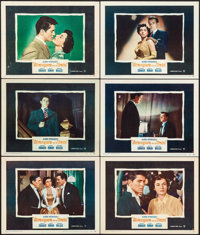 """Strangers on a Train (Warner Brothers, 1951). Lobby Cards (6) (11"""" X 14""""). Hitchcock. ... (Total: 6 Items)"""