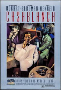 "Casablanca (Turner Entertainment, R-1992). 50th Anniversary One Sheet (27"" X 40"") SS. Academy Award Winners..."