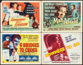 "Movie Posters:Crime, Six Bridges to Cross & Others Lot (Universal International,1955). Title Lobby Cards (4) (11"" X 14""). Crime.. ... (Total: 4Items)"