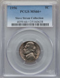 Jefferson Nickels, 1956 5C MS66+ PCGS. Ex: Steve Storm Collection. PCGS Population: (176/0 and 1/0+). NGC Census: (343/22 and 0/0+). Mintage ...