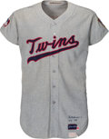 Baseball Collectibles:Uniforms, 1968-69 Harmon Killebrew Game Worn Minnesota Twins Jersey, MEARS A8....