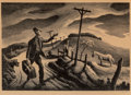 Prints, Thomas Hart Benton (American, 1889-1975). The Boy, 1948. Lithograph. 9-1/2 x 13-3/4 inches (24.1 x 34.9 cm) (image). Ed....