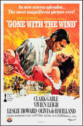 "Movie Posters:Academy Award Winners, Gone with the Wind (MGM, R-1980). 50th Anniversary One Sheet (27"" X41""). Academy Award Winners.. ..."
