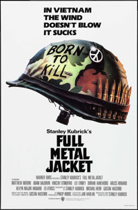 "Full Metal Jacket (Warner Brothers, 1987). One Sheet (27"" X 41"") SS Advance. War"