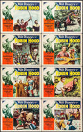 "Movie Posters:Adventure, The Story of Robin Hood (RKO, 1952). Lobby Card Set of 8 (11"" X14"") & Autographed Convention Photo (8"" X 10""). Adventure.. ...(Total: 9 Items)"