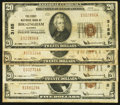 National Bank Notes:Alabama, Birmingham, AL - $5 1929 Ty. 1 and $20 1929 Ty. 1, Three Examples The First NB Ch. # 3185. ... (Total: 4 notes)
