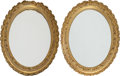 Decorative Arts, French:Other , A Pair of Louis XVI-Style Oval Carved Giltwood Mirrors, early 20thcentury. 30 inches high x 24 inches wide (76.2 x 61.0 cm)...(Total: 2 Items)