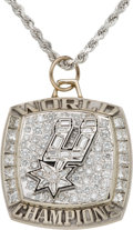 Basketball Collectibles:Others, 2003 San Antonio Spurs NBA Championship Pendant Presented to KevinWillis....