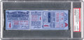 Baseball Collectibles:Tickets, 1927 World Series Game Four Full Ticket, PSA Authentic....