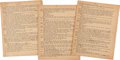 Books:Mystery & Detective Fiction, Mickey Spillane. Original Typescript Manuscript of Second ...