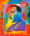 Fine Art - Painting, American:Contemporary   (1950 to present)  , Peter Max (American, b. 1937). Martin Luther King, Jr.,2005. Acrylic and mixed media on canvas. 10-1/2 x 15 inches (26....