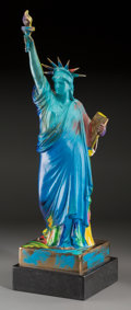 Fine Art - Sculpture, American:Contemporary (1950 to present), Peter Max (American, b. 1937). Statue of Liberty, 1990.Hand-painted bronze sculpture. 22-1/2 x 6-1/2 x 6-1/2 inches (57...