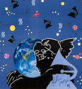 Prints, Peter Max (American, b. 1937). I Love the World, 34th Annual Grammy Awards poster, 1992. Color poster. 19-3/4 x 18-1/4 i...