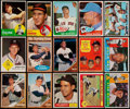 Baseball Cards:Lots, 1960-1967 Fleer/Topps Baseball Stars & HoFers Collection (48)With One 1963 Topps Football Card....