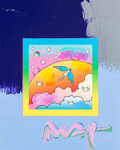 Fine Art - Painting, American:Contemporary   (1950 to present)  , Peter Max (American, b. 1937). Angel with Clouds with Blends#281, 2008. Acrylic painting on lithograph. 10 x 8 inches (...