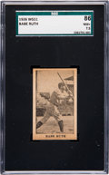 Baseball Cards:Singles (Pre-1930), 1926 W511 Babe Ruth (Black & White) SGC 86 NM+ 7.5. ...
