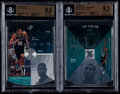 Basketball Cards:Lots, 1997-98 SPX Tim Duncan Rookie Beckett Gem Mint 9.5 Pair - SPX #37& Hardcourt Holoview #HH18. ...