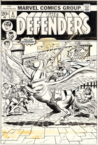 Jim Starlin, John Buscema, and Frank Giacoia Defenders #4 Cover Original Art (Marvel, 1973)