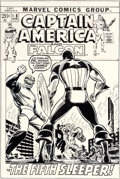 Original Comic Art:Covers, John Romita Sr. Captain America #148 Cover Red SkullOriginal Art (Marvel, 1972).... (Total: 2 Original Art)