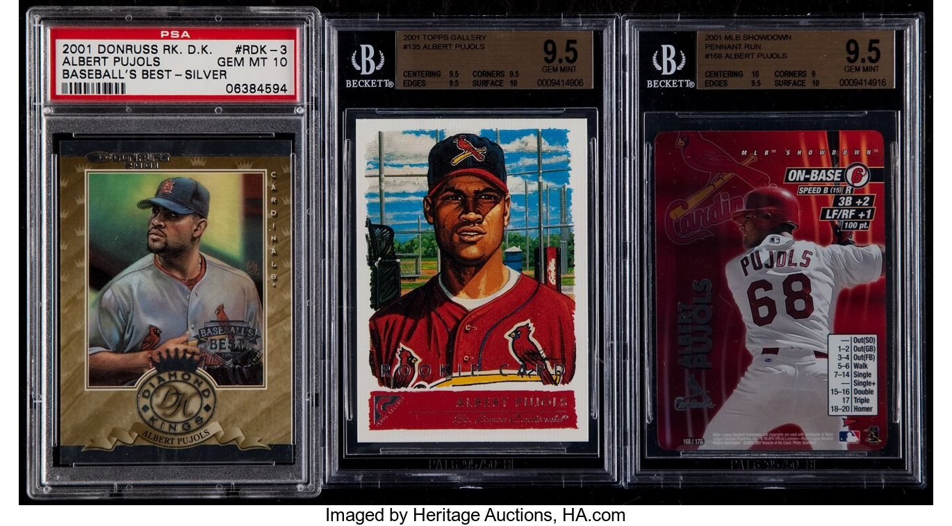 2001 Albert Pujols Rookie Graded Lot Topps Gallery Mlb