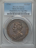 Betts Medals, Betts-97. 1702 American Treasure Captured at Vigo Bay. Silver. MS62PCGS....