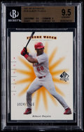 Baseball Cards:Singles (1970-Now), 2001 SP Authentic Albert Pujols #126 Future Watch Rookie BeckettGem Mint 9.5. ...