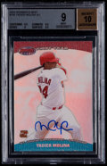 Baseball Cards:Singles (1970-Now), 2004 Bowman's Best Yadier Molina #YM Rookie Autograph Beckett Mint9, 10 Autograph. ...