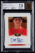 Baseball Cards:Singles (1970-Now), 2004 Fleer Hot Prospects Draft Dustin Pedroia #109 Rookie AutographBeckett NM+ 7.5, 10 Autograph - Numbered 287 of 299. ...