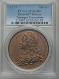 Betts Medals, Betts-427. 1760 Triumphs Everywhere. Bronze. MS62 Brown PCGS....