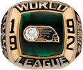 Football Collectibles:Others, 1992 Sacramento Surge World League of American Football Championship Ring....
