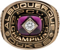Baseball Collectibles:Others, 1987 Albuquerque Dukes Pacific Coast League Championship Ring. ...