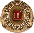 Football Collectibles:Others, 1962 Dallas Texans American Football League Championship Sample Ring....