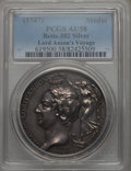 Betts Medals, Betts-382. 1747 Lord Anson Circumnavigation. Silver. AU58 PCGS....