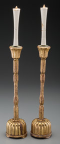 Asian:Japanese, A Pair of Japanese Gilt Lacquered Candle Prickets, late 19thcentury. 17-3/8 inches high (44.1 cm). PROPERTY FROM THE ESTA...(Total: 2 Items)