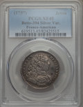 Betts Medals, Betts-394. 1757 Louis XV Franco-American Jeton. Silver. XF45PCGS....