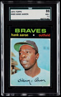 Baseball Cards:Singles (1970-Now), 1971 Topps Hank Aaron #400 SGC 86 NM+ 7.5....