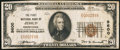 National Bank Notes:Pennsylvania, Jessup, PA - $20 1929 Ty. 1 The First NB Ch. # 9600. ...