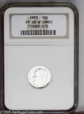 Proof Roosevelt Dimes: , 1953 10C PR68 Cameo NGC. PCGS Population (5/0). NGC Census: (75/4).(#85228)...