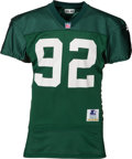Football Collectibles:Uniforms, 1994 Reggie White Practice Worn Green Bay Packers Jersey - With Huge Repair!...