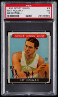Miscellaneous Collectibles:General, 1933 Sport Kings Nat Holman #3 PSA VG 3....