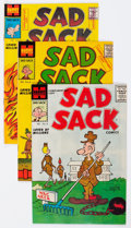 Silver Age (1956-1969):Humor, Sad Sack Armed Forces Complimentary File Copies Long Box Group (Harvey, 1957-62) Condition: Average VF/NM....