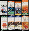 Football Collectibles:Tickets, 1980's Football Ticket Stub Collection. ...