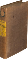 Books:Americana & American History, David B. Edward. The History of Texas; Or, theEmigrant's, Farmers, and Politician's Guide to the Character,Clima...