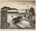 Fine Art - Work on Paper:Print, Thomas Hart Benton (American, 1889-1975). Edge of Town.Lithograph. 8-3/4 x 10-3/4 inches (22.2 x 27.3 cm) (image). Ed. ...