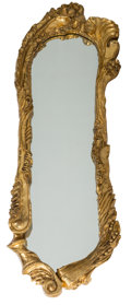 Decorative Arts, French, A Large Art Nouveau Giltwood Mirror, early 20th century. 95 incheshigh (241.3 cm). ...