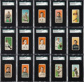 Baseball Cards:Lots, 1909-11 T206 Piedmont Tobacco Card Collection (100) - With Miscut,Ink and Color Variation Cards. ...